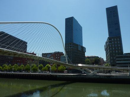 Calatrava's White Bridge, Bilbao