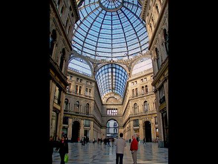 Naples - Galleria Umberto I - The street